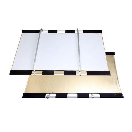 Quantuum Fomex PERI Bounce Reflector PBR1521 Kit telaio + pannello riflettente bianco argento