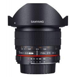 Obiettivo Samyang 8mm f/3.5 Fish-eye CS II con paraluce x Micro Quattro Terzi M4/3 Lens