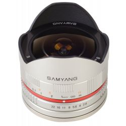 Obiettivo Samyang 8mm f/2.8 Fish-eye CS II Silver x Sony E-Mount Lens