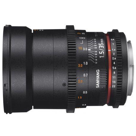 Obiettivo Samyang 35mm T1.5 AS UMC VDSLR Mark II x Canon Lens