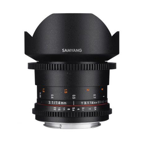 Obiettivo Samyang 14mm T3.1 ED AS IF UMC VDSLR II compatibile Canon