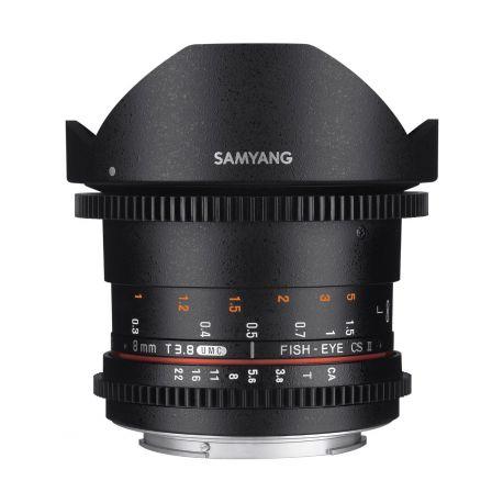 Obiettivo Samyang 8mm T3.8 Asph IF MC Fisheye CS II x Sony E-Mount