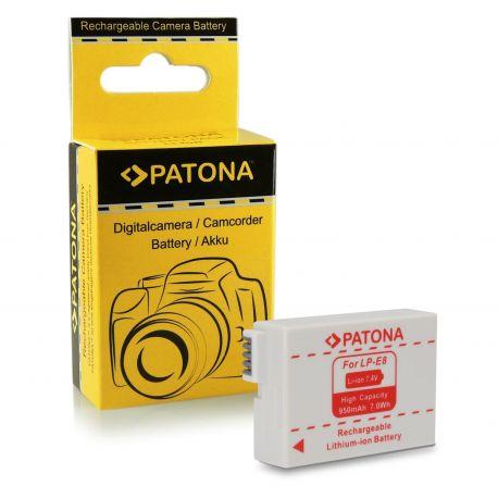 Patona Batteria LP-E8 compatibile Canon 550D 600D 650D 700D