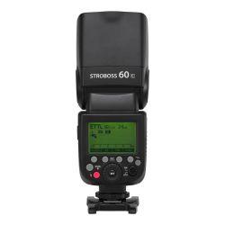 Quadralite Stroboss 60C flash a slitta per Canon