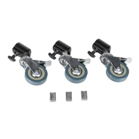 Quadralite ruote rotelle per stativo da studio