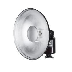Quadralite beauty dish per flash Reporter