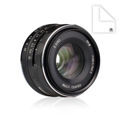 Obiettivo Meike MK-50mm F2 per Canon EF-M mount
