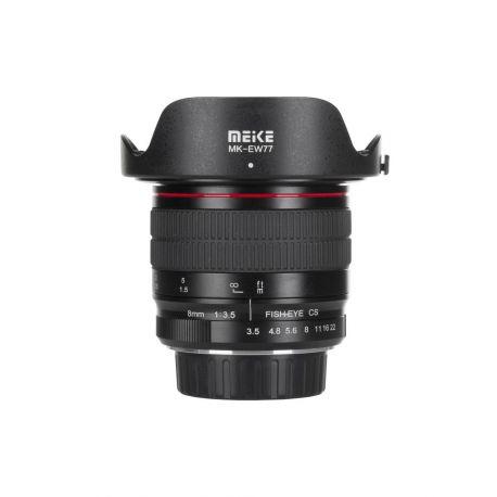 Obiettivo Meike MK-8mm F3.5 per Canon EF mount