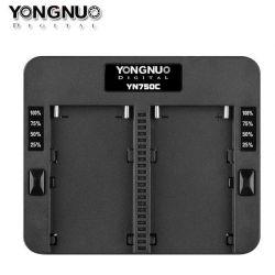 Yongnuo YN750C Caricatore doppio per batteria Sony NP-F970 NP-F960 NP-F570 NP-F770 NP-F975