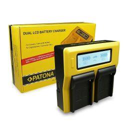 Patona Dual LCD caricabatterie per Sony DSC-RX10 NEX-5 NEX-6 NEX-7 Alpha 7 7R SLT-A55 3000 5000 6000