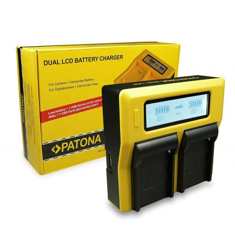 Patona Dual LCD caricabatterie doppio battery charger