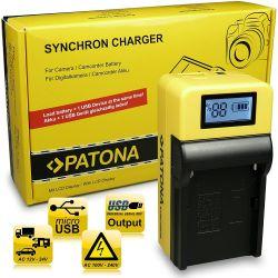 Patona Single LCD NP-F970 NP-550 caricabatterie per Sony DSC-RX10 NEX-5 NEX-6 NEX-7 Alpha 7 7R SLT-A55 3000 5000 6000