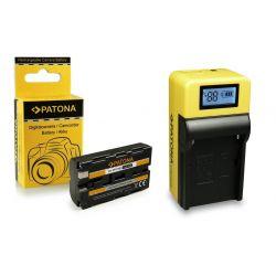 Patona kit Caricabatteria LED LCD + Batteria NP-F550 per Sony