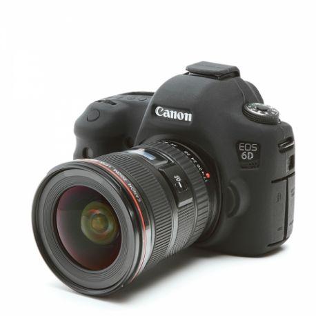 Custodia morbida in silicone EasyCover per Canon 6D Nero
