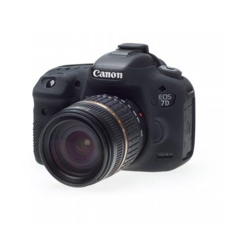 Custodia protettiva EasyCover in silicone morbido per Canon 7D Mark II Nero