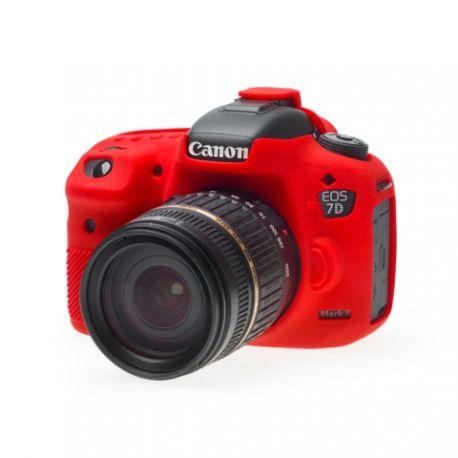 Custodia protezione EasyCover in silicone morbido per Canon 7D Mark II Rosso