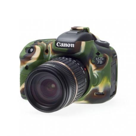Custodia protettiva morbida EasyCover in silicone per Canon 7D Mark II Camouflage