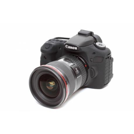 Custodia protezione EasyCover in silicone morbido camera case per Canon 60D Nero
