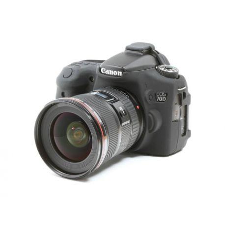 Camera case EasyCover custodia protettiva in silicone morbido per Canon 70D Nero