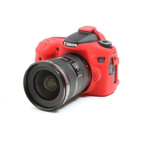 Custodia protettiva in silicone morbido EasyCover camera case per Canon 70D Rosso