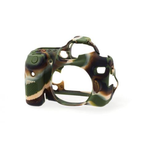 Camera case protezione in silicone morbido EasyCover custodia per Canon 70D Camouflage