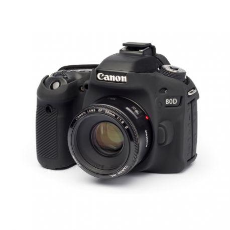 Custodia in silicone morbido EasyCover camera case protezione per Canon 80D Nero