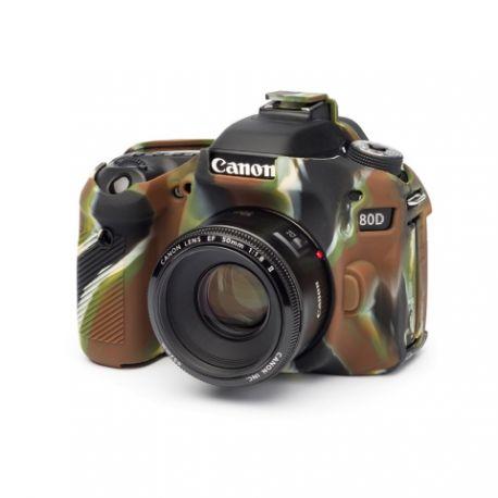 Custodia morbida in silicone EasyCover camera case protettivo per Canon 80D Camouflage