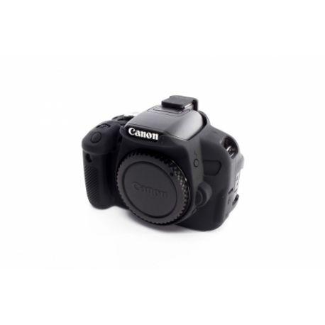 Custodia in silicone morbido EasyCover camera case protettivo per Canon 650D/700D/T4i/T5i Nero