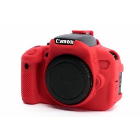 Camera case protezione EasyCover custodia in silicone morbido per Canon 650D/700D/Rebel T4i/T5i Rosso