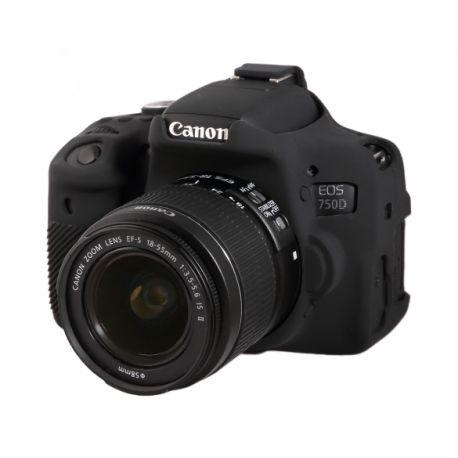 Custodia protettiva EasyCover camera case morbido in silicone per Canon 750D / Rebel T6i Nero