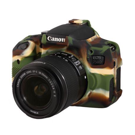 Camera case in silicone EasyCover custodia protettiva morbida per Canon 750D / Rebel T6i Camouflage