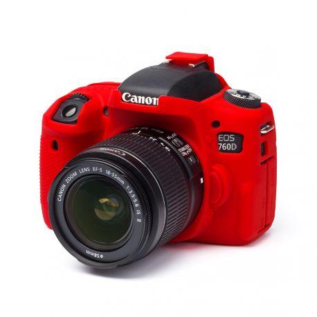 Protezione in silicone morbido EasyCover custodia camera case per Canon 760D / Rebel T6s Rosso