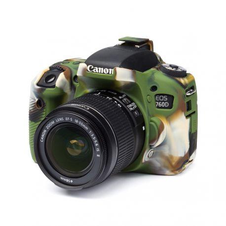 Custodia morbida in silicone EasyCover soft camera case per Canon 760D / Rebel T6s Camouflage
