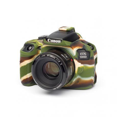 Custodia in silicone morbido EasyCover soft camera case per Canon 1300D / T6 Camouflage