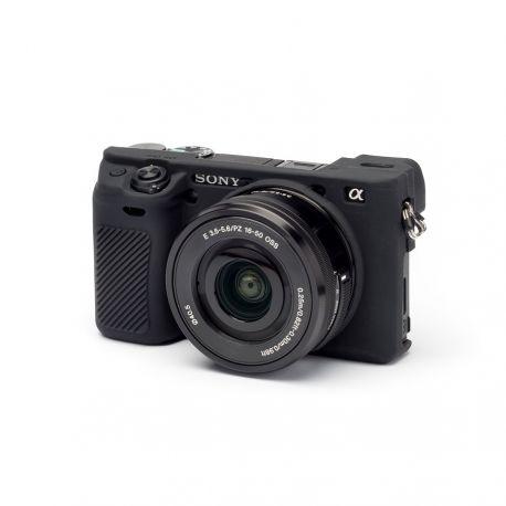 Custodia morbida in silicone EasyCover camera case per Sony A6000 / A6300 Nero