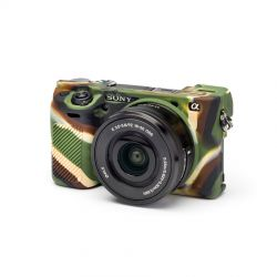 Camera case in silicone morbido EasyCover custodia per Sony A6000 / A6300 Camouflage