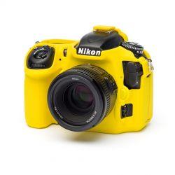 Custodia protezione EasyCover camera case in silicone morbido per Nikon D500 Giallo