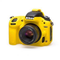 Protezione custodia EasyCover soft camera case in silicone morbido per Nikon D750 Giallo