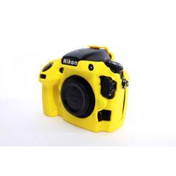 Custodia soft protezione in silicone EasyCover camera case morbido per Nikon D800 D800E Giallo