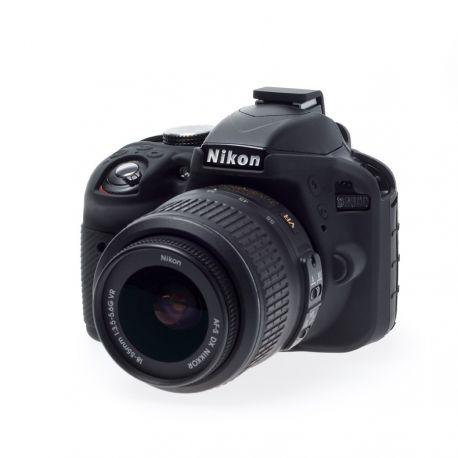 Camera case EasyCover custodia protezione morbida in silicone per Nikon D3300 D3400 Nero