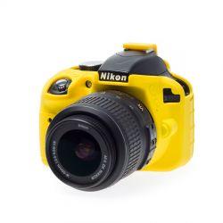 Custodia protezione morbida in silicone EasyCover camera case per Nikon D3300 D3400 Giallo