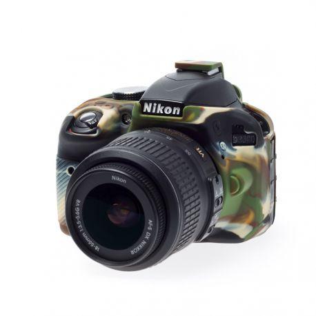 Custodia morbida protezione in silicone EasyCover soft case per Nikon D3300 D3400 Camouflage