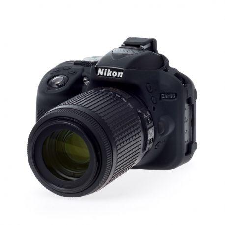 Camera case EasyCover custodia protezione morbida in silicone per Nikon D5300 Nero