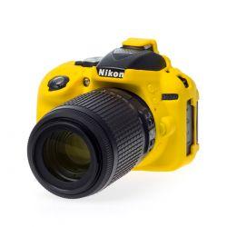 EasyCover camera case custodia protezione morbida in silicone per Nikon D5300 Giallo