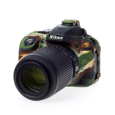 EasyCover camera case protezione custodia in silicone morbido per Nikon D5300 Camouflage