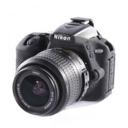 Protezione EasyCover camera case custodia in silicone morbido per Nikon D5500 Nero