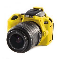 Protezione EasyCover soft case custodia in silicone morbido per Nikon D5500 D5600 Giallo