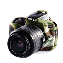 Protezione custodia EasyCover soft case in silicone morbido per Nikon D5500 D5600 Camouflage