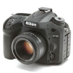 Protezione custodia in silicone EasyCover soft case morbido per Nikon D7100 D7200 Nero