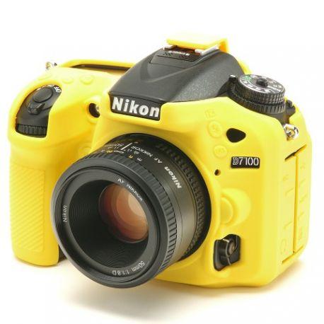 Protezione custodia soft in silicone EasyCover case morbido per Nikon D7100 D7200 Giallo